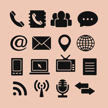 contact icon: Set of Icons for Web and Mobile
