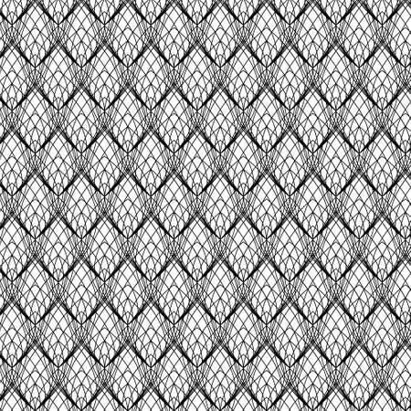 白、ベクトルに抽象的なブラック ライン レース パターン  イラスト・ベクター素材