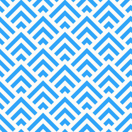 Abstract Blue and White Angle Stripes Pattern, vector  イラスト・ベクター素材