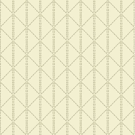 sewn: Beige quilted seamless pattern background Illustration