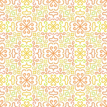 dense: Colorful graphic flower pattern on white background