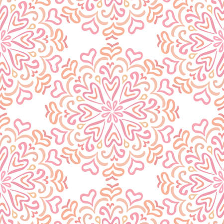 elaborate: Elaborate circular ornament pattern in shades of pink