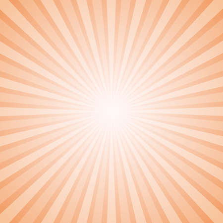 square background: Sunny Orange and White Background with Retro Rays of Different Transparency plus Blurred Sun in the Centre. Layered Illustration