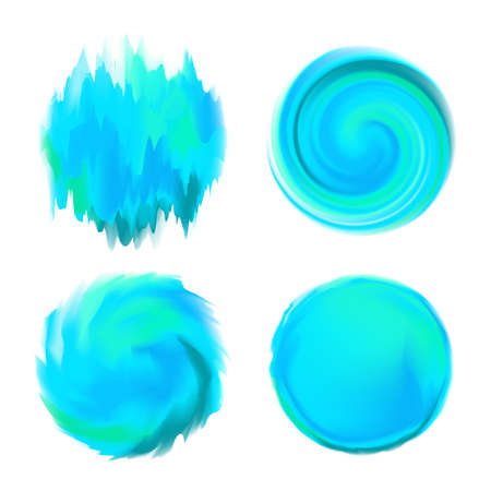 white backing: Abstract Round Watercolor Backgrounds in Shades of Blue on White Backing. Can be used as base for tittles, captions, speech bubbles, etc. Illustration