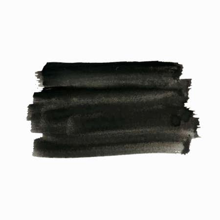 ベクトルのグランジ背景、テキストの芸術的な長方形バナー。現実的な半透明ブラシ ストロークでペイント。苦痛テクスチャ テンプレート、ラベル