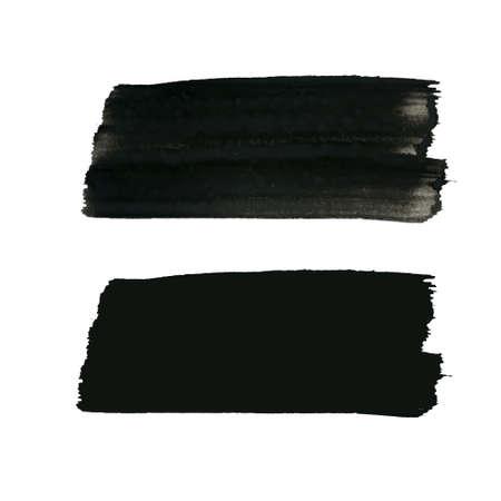 グランジ背景、設定、テキストのブラシ ストロークで塗られた芸術的な長方形バナーをベクトルします。苦痛テクスチャ テンプレート、ラベル、バ
