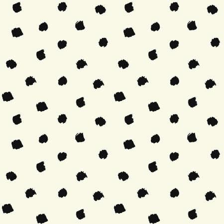 ベクター ブラシ ストローク水玉シームレスなパターンを塗った。混沌とした手描きの芸術の背景。ファブリック インプリントの抽象的な芸術。グ  イラスト・ベクター素材