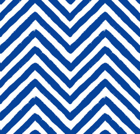 chevron pattern: Vector Chevron Navy Blue Seamless Pattern. Painted background, zigzag brush strokes composition. Vector chevron pattern for fabric print, textile design, fashion clothes. Paint texture vector. Illustration