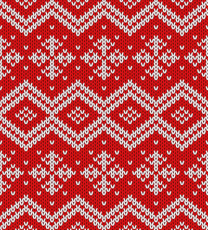 Vector Snowflakes Christmas Ornament Rich Red And White Christmas