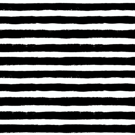 Vector Brush Strokes Seamless Pattern. Vibrant geometric background, grunge vector. Hand drawn stripes pattern for fabric print, textile design, fashion. Distress texture. Black and white color