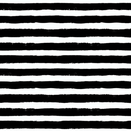 lineas horizontales: Vector Brush Strokes sin patrón. Fondo geométrico vibrante, vector del grunge. Mano modelo de las rayas trazadas para la impresión de la tela, diseño textil, la moda. la textura de socorro. de color blanco y negro