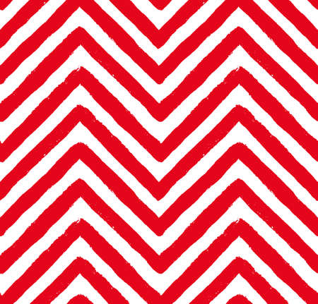 chevron pattern: Vector Chevron Red and White Seamless Pattern. Painted background, zigzag brush strokes composition. Vector chevron pattern for fabric print, textile design, fashion clothes. Paint texture vector. Illustration