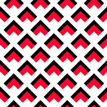 lineas decorativas: Fondo del vector. patrón geométrico. Modelo negro triángulo rojo sobre fondo blanco. Modelo decorativo para el papel pintado, muebles, entre la decoración, tela de la prenda. Modelo del vector, diseño moderno