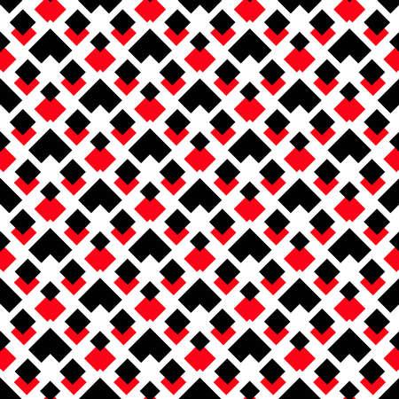 Vecteur de fond. motif géométrique. motif carré noir et rouge sur fond blanc. Motif décoratif pour le papier peint, les meubles, la décoration, le tissu de la mode. Modèle vectoriel, design moderne