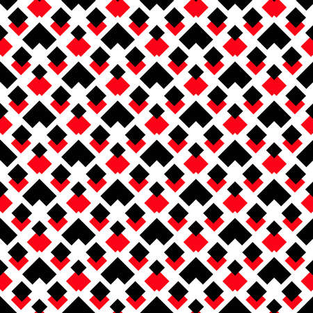 Vector background. Geometric pattern. Black and red square pattern on white background. Decorative pattern for wallpaper, furniture, interior decoration, fashion fabric. Vector pattern, modern design