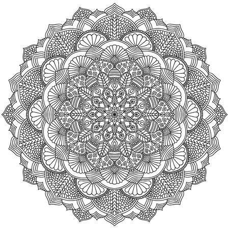 Esquema De La Mandala De La Flor Por Página Para Colorear. Mandala ...