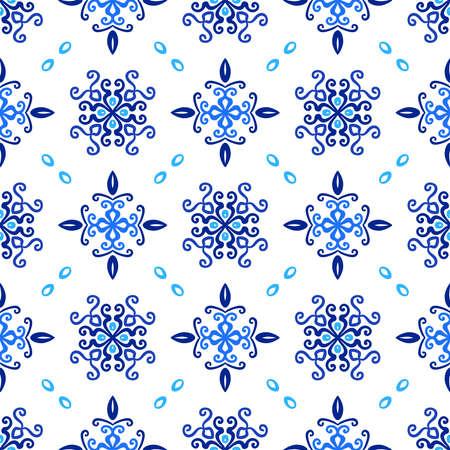 青い背景の花曲線パターン