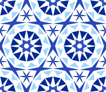 Kaleidoscope Abstract Flower Pattern.
