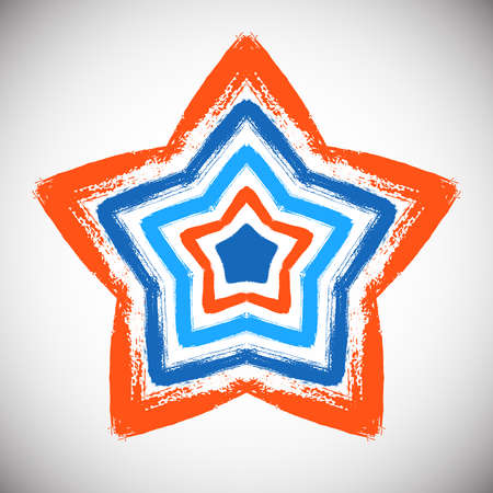 indian paint brush: Hand Drawn Star