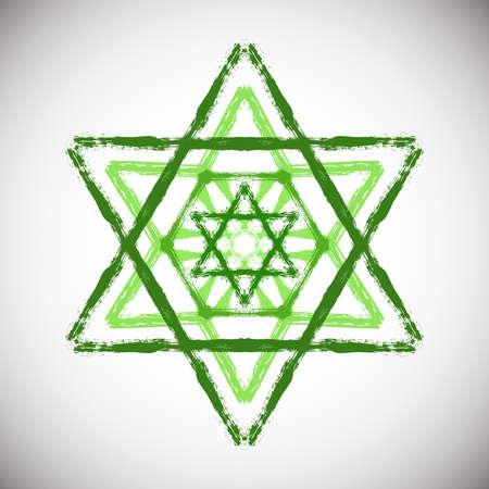 Green Painted Star Illustration