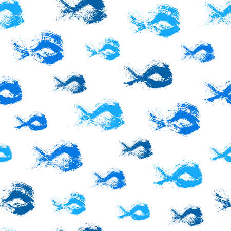 Painted Fish Pattern Background
