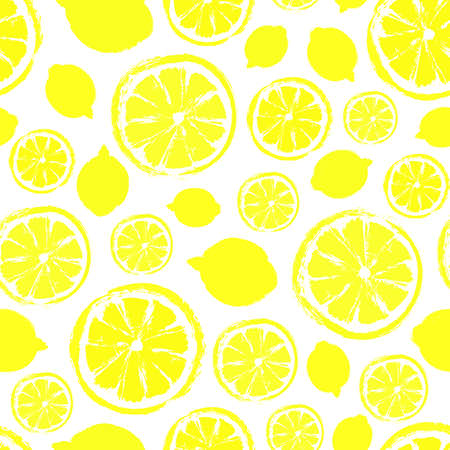 Lemons Background Painted Pattern