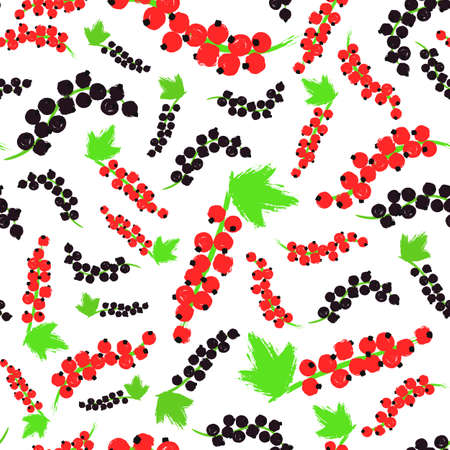 Red Black Currents Background Painted Pattern Illustration