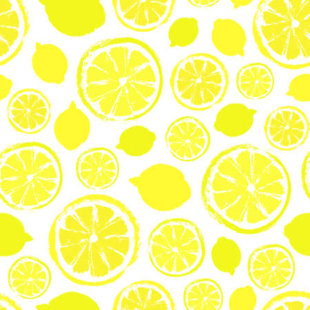 Lemons painted pattern. Illustration