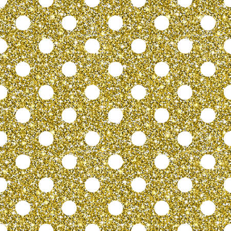 Gold Glitter Dots Pattern Background Illustration