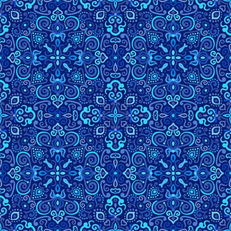 Blue Arabesque Pattern