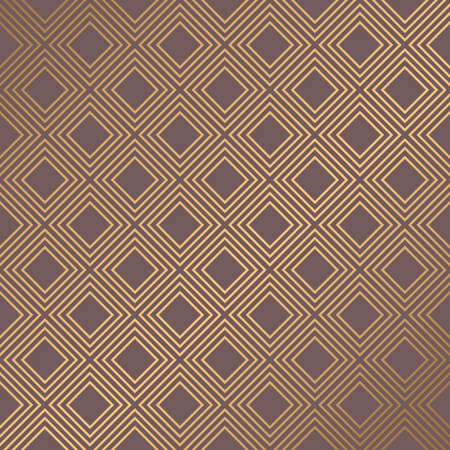 Gold and brown art geometric pattern.