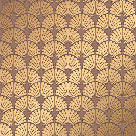 Diseño de ilustración del patrón Art Deco