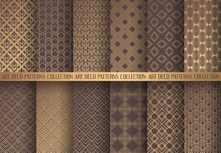 Art geometric different shade of brown pattern design Stock Illustratie
