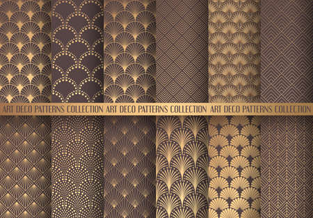 Art geometric different shade of brown pattern design Illustration