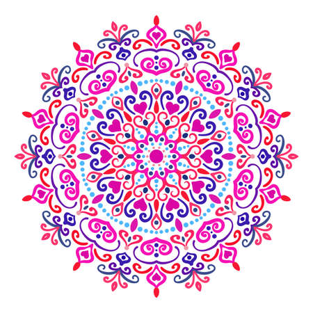 Colorful mandala  design element on white background. Vectores