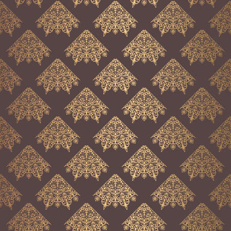 Golden Arabesque Pattern vector illustration.