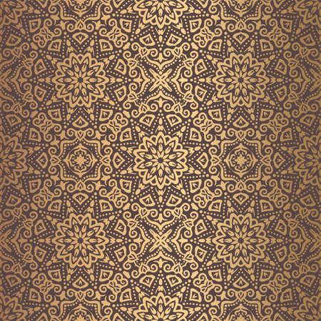Golden Arabesque Pattern  isolated on gold presentation.