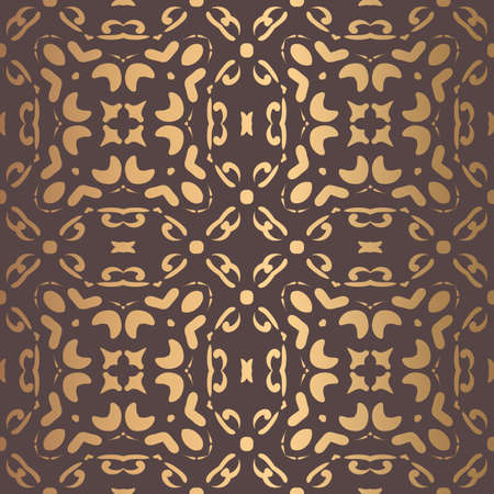 Golden Arabesque Pattern