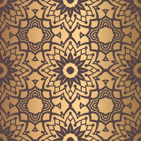 Golden Arabesque Pattern