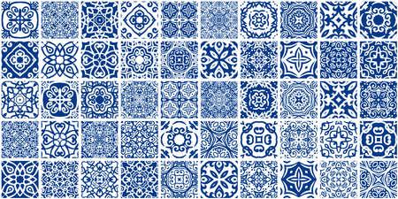 Blue Tiles Bundle Illustration