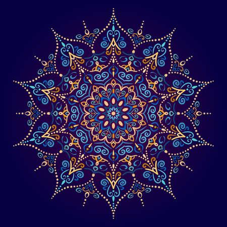 Elemento di disegno vettoriale di mandala