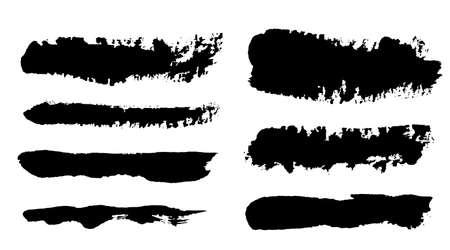 Brush strokes. Vector paintbrush set. Grunge design elements Ilustração