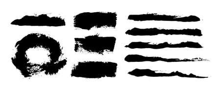 Brush strokes. Vector paintbrush set. Grunge design elements Stock fotó - 131710026