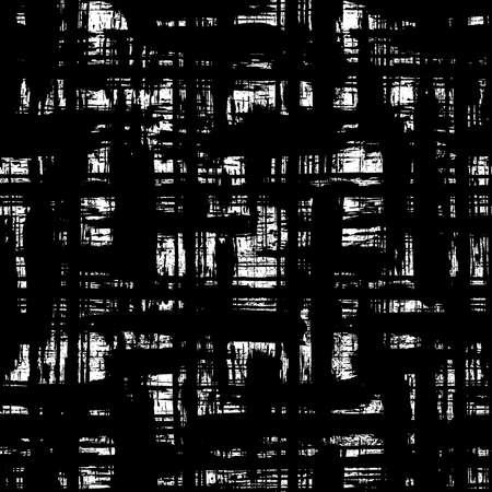 Irregular Checkered Plaid Pattern. Gruge brush seamless hand drawn background Illusztráció