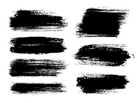 Pinceladas. Conjunto de pincel de vector. Elementos de diseño grunge.