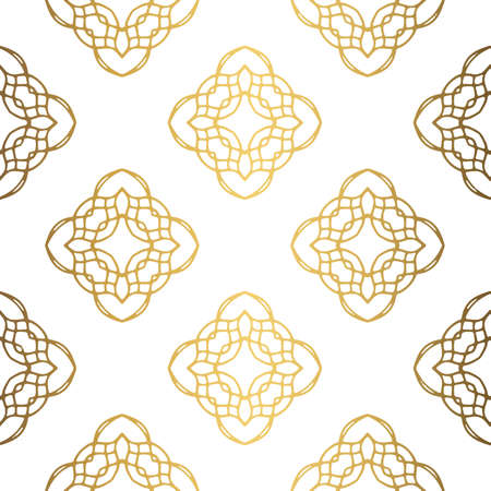 Golden background. Luxury seamless pattern elegant design