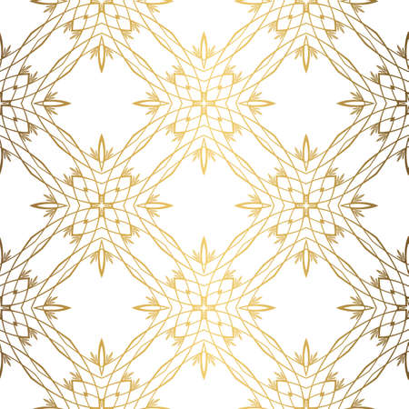 Golden background. Luxury seamless pattern elegant design