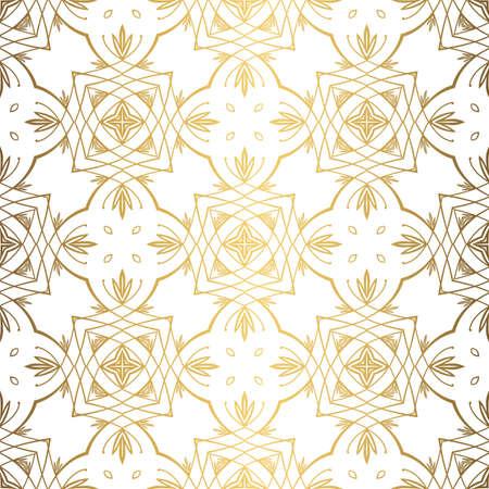 Golden background. Luxury seamless pattern elegant design 스톡 콘텐츠 - 132427697