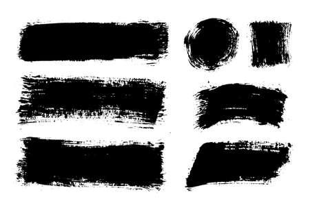 Coups de pinceau. Ensemble de pinceaux vectoriels. Éléments de conception grunge