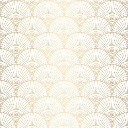 Art-Deco-Muster. Nahtloser weißer und goldener Hintergrund. Hochzeitsdekoration